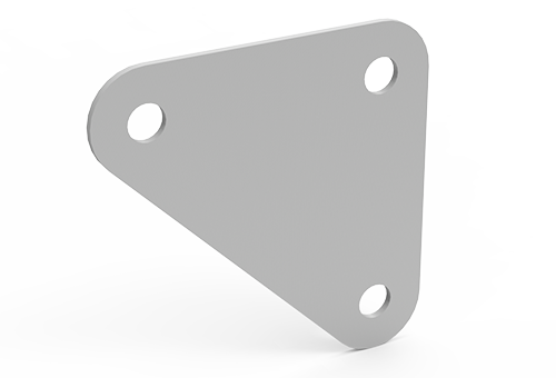 gusset plate for slotted angle