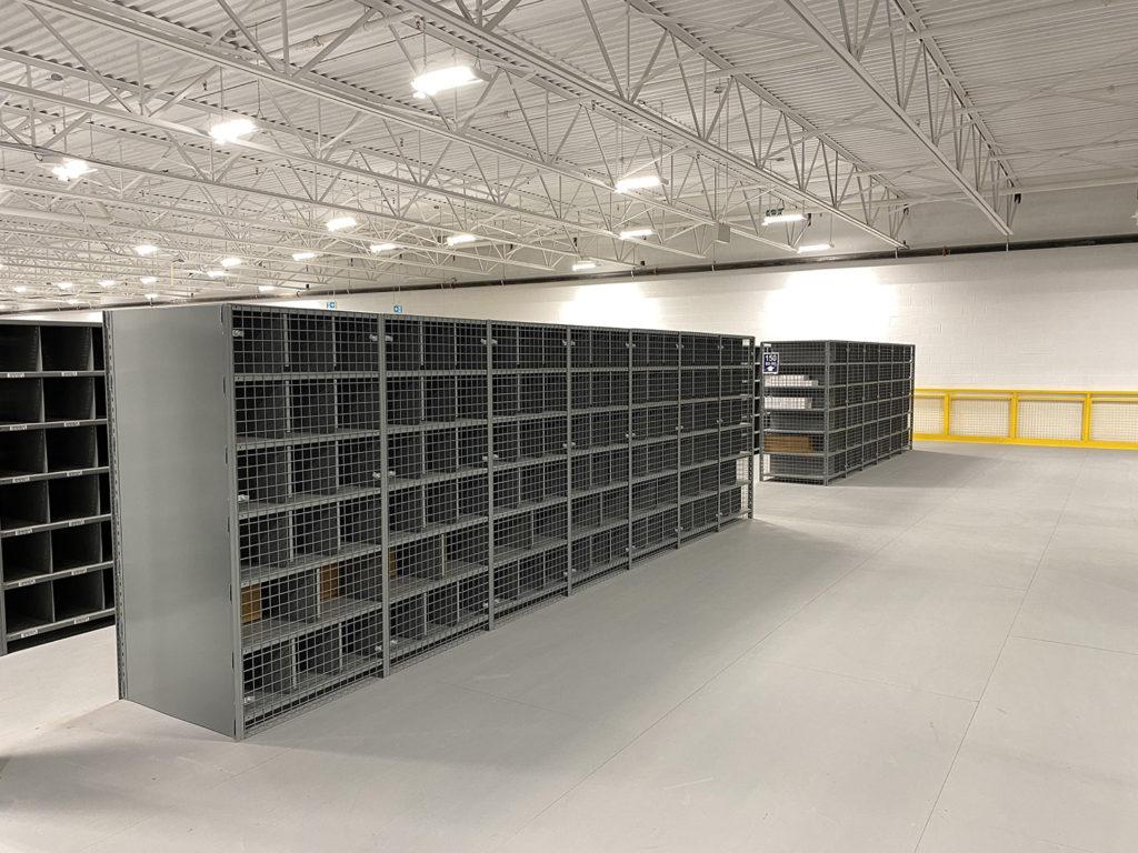 Interlok steel shelving for pharmaceutical order picking