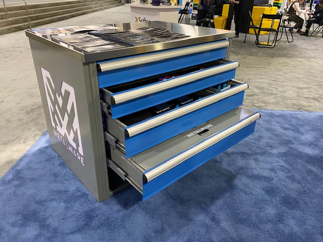 integrated modular drawers with stainless counter top for small parts all welded drawer for agriculture, maintenance, automotive