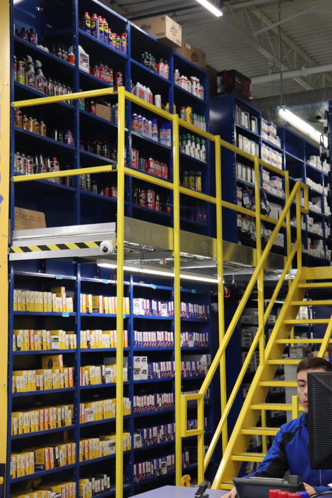 automotive parts distribution center in Napa blue